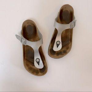 Birkenstock Gizeh Thong Sandal Silver